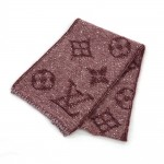 Louis Vuitton Burgundy Mohair Scarf Muffler + Box