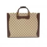 Vintage Gucci Brown Monogram Canvas Trunk Briefcase
