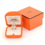 Hermes Silver Belt Motif Ring