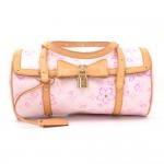 Louis Vuitton Cherry Blossom Papillon Pink Monogram Canvas Murakami Hand Bag