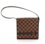 Louis Vuitton Tribeca PM Ebene Damier Ebene Canvas Shoulder Mini Bag