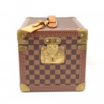 Vintage Louis Vuitton Boite Flacons Beauty Ebene Damier Canvas Cosmetic Trunk Case Limited Edition