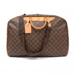 Vintage Louis Vuitton Alize Ann Posh Monogram Canvas Travel Hand Bag + Strap