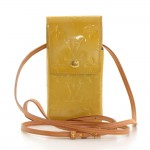 Louis Vuitton Greene Yellow Vernis Leather Cigarette/Phone Case
