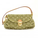 Louis Vuitton Mini Pleaty Green Monogram Denim Shoulder Hand Bag