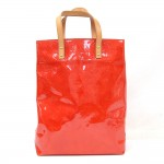 Louis Vuitton Reade MM Red Vernis Leather Hand Bag