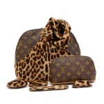 Louis Vuitton Alma Azzedine Alaia Leopard Monogram Canvas Hand Bag - Limited Edition