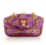 Louis Vuitton Charms Lines Vinyl x Purple Leather Hand Bag - 2006 Limited