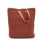 Hermes Ahmedabad Burgundy Cotton x Leather Large Tote Hand Bag.
