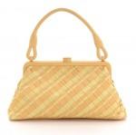 Bottega Veneta Yellow Intrecciato Leather Hand Bag
