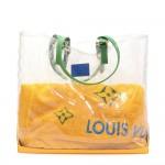 Louis Vuitton Cabas Brazil 500 Anos Clear Vinyl  x Leather XL Shoulder Tote Bag - Limited