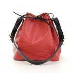 Vintage Louis Vuitton Petit Noe Vio Red x Black Epi Leather Shoulder Bag