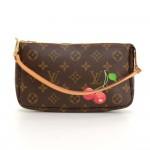 Louis Vuitton Pochette Accessories Cherry Monogram Canvas Bag - Limited Edition