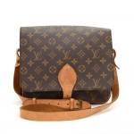 Vintage Louis Vuitton Cartouchiere GM Monogram Canvas Shoulder Bag