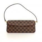Louis Vuitton Recoleta Ebene Damier Canvas Hand Bag