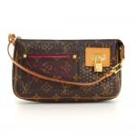 Louis Vuitton Perforated Accessories Monogram Canvas Purple Leather Handbag - 2006 Limited