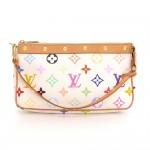 Louis Vuitton Pochette Accessories White Multicolor Canvas Hand Bag