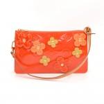 Louis Vuitton Red Vernis Leather Flower Lexington 2001 Limited Handbag