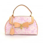 Louis Vuitton Sac Retro PM Pink Rouge Cherry Blossom Monogram Canvas Hand Bag - 2003 Limited