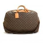 Vintage Louis Vuitton Alize 2 Poches Monogram Canvas Travel Bag + Strap