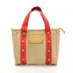 Louis Vuitton Cabas PM Beige x Red Antigua Canvas Hand Bag