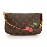 Louis Vuitton Pochette Accessories Cherry Monogram Canvas Bag Limited Edition