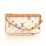 Louis Vuitton Pochette Accessories White Multicolor Canvas Hand Bag
