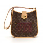 Louis Vuitton Perforated Musette Monogram Canvas Purple Leather Shoulder Bag - 2006 Limited