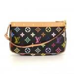 Louis Vuitton Pochette Accessories Black Multicolor Monogram Canvas Hand Bag