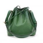 Vintage Louis Vuitton Petit Noe Green Epi Leather Shoulder Bag
