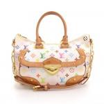 Louis Vuitton Rita White Multicolor Monogram Canvas 2 way Bag