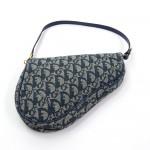 Christian Dior Mini Saddle Navy Monogram Pochette Bag