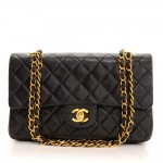 17 Chanel 2.55 10inch Double Flap Black Quilted Leather Shoulder Bag