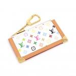 Louis Vuitton Pochette Cles White Multicolor Monogram Coin Key Case
