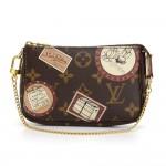 Louis Vuitton Mini Pochette Accessories Patch Monogram Canvas Pouch - Limited Edition