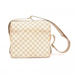 Louis Vuitton Naviglio White Damier Azur Canvas Messenger Bag