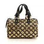 Louis Vuitton Speedy Eclipse Monogram Canvas Hand Bag - 2009 Limited