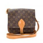 Vintage Louis Vuitton Cartouchiere MM Monogram Canvas Shoulder Bag