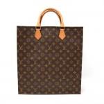 Louis Vuitton Sac Plat Monogram Canvas Tote Hand Bag