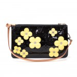 Louis Vuitton Lexington Flower Black Vernis Leather Handbag - 2001 Limited