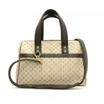 Louis Vuitton Josephine GM Khaki Mini Monogram Canvas Hand Bag + Strap