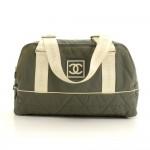 Chanel Sports Line Gray Nylon Large Boston Bag