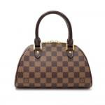 Louis Vuitton Mini Ribera Ebene Damier Canvas Hand Bag