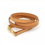 Louis Vuitton Brown Cowhide Leather Short Shoulder Strap For Small Bags