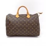 Louis Vuitton Speedy 35 Monogram Canvas City Hand Bag