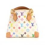 Louis Vuitton Audra White Multicolor Monogram Canvas Hand Bag
