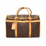 Louis Vuitton Sac Chaussures 50 Monogram Canvas Pet Carry Bag