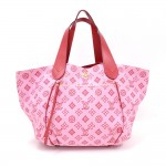 Louis Vuitton Cabas Ipanema PM Rose Red Monogram Cotton Beach Bag - 2009 Collection Plage