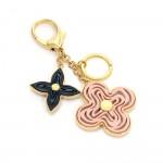 Louis Vuitton Gold Tone x Pink Monogram Naif Key Chain/ Charm