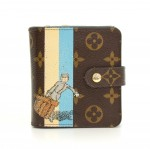 Louis Vuitton Compact Zip Groom Blue Monogram Canvas Wallet